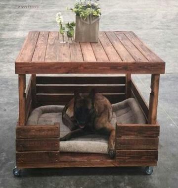 casas de perros recicladas de madera