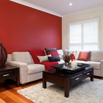 colores calidos para sala estilo clasico