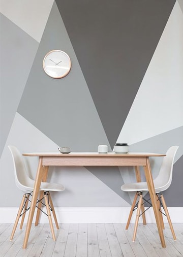 colores para pintar un comedor con geometria