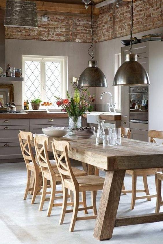 como decorar el comedor de mi casa estilo rustico