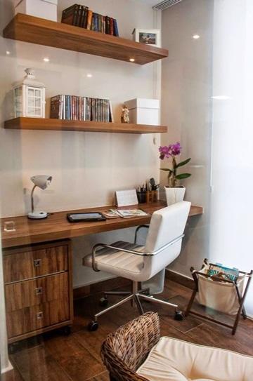 como decorar un estudio pequeño con madera