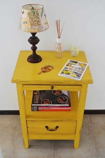 como pintar mesa de madera renovada