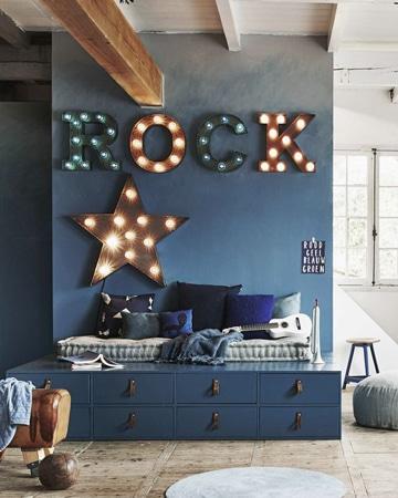 cuartos pintados de azul para jovenes