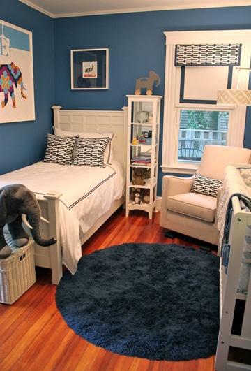 cuartos pintados de azul para niños