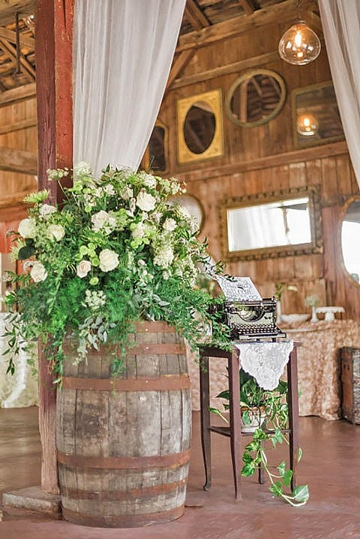 decoracion de boda civil en casa campestre