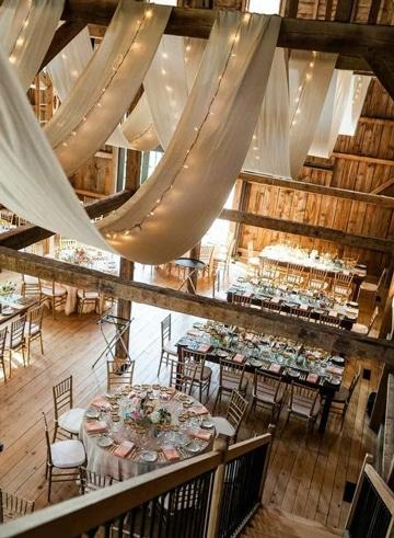 decoracion de boda civil en casa con telas