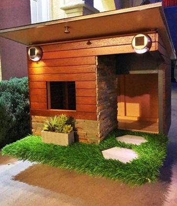 diseños de casas para perros de madera