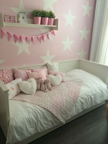 dormitorios rosa y blanco infantiles