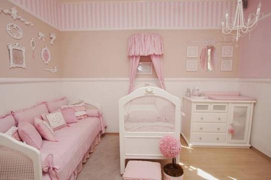 dormitorios rosa y blanco para niñas