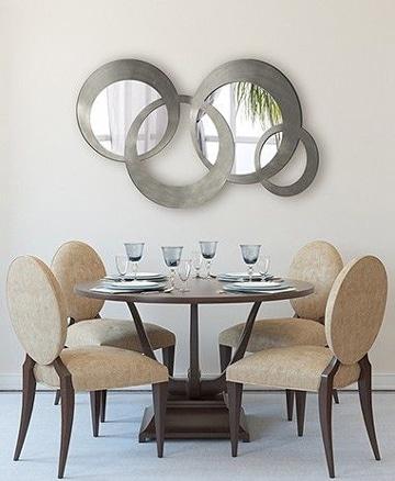 Atr vete con unos espejos para comedor modernos como for Espejos circulares decorativos