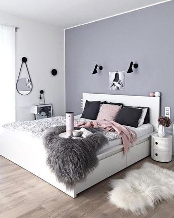 Descubre la elegancia de las habitaciones blancas y grises - Habitaciones juveniles blancas ...