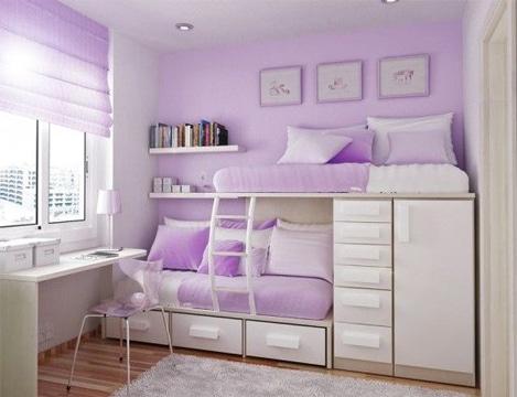 habitaciones color lila compartidas