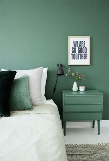 habitaciones color verde en cabecera