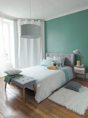 habitaciones color verde relajante