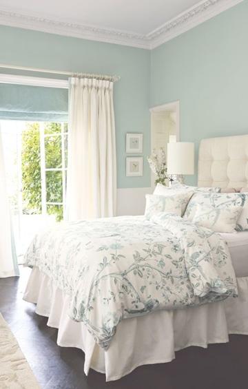 habitaciones pintadas de azul claro