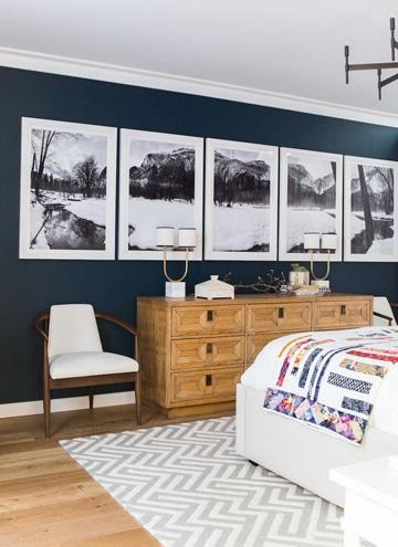 habitaciones pintadas de azul decoradas