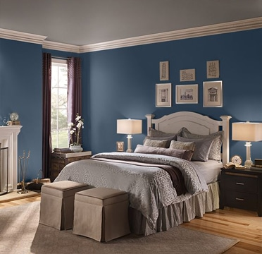 habitaciones pintadas de azul para mujer