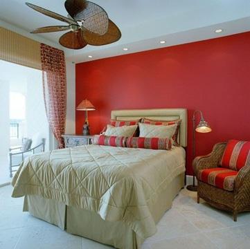 habitaciones pintadas de rojo decoracion