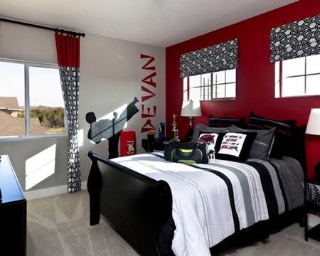 Estas habitaciones pintadas de rojo te sorprender n como for Habitaciones pintadas