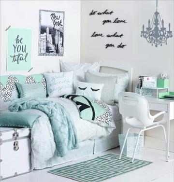 ideas para decorar habitacion juvenil turquesa