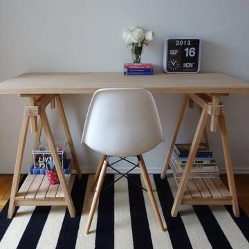 Saca buenas ideas de estas imagenes de escritorios de madera - Mesa escritorio madera ...