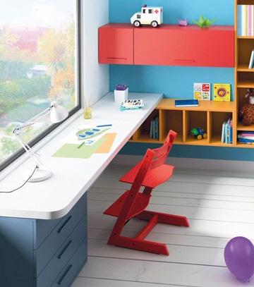 mesas de estudio para niños con lampara
