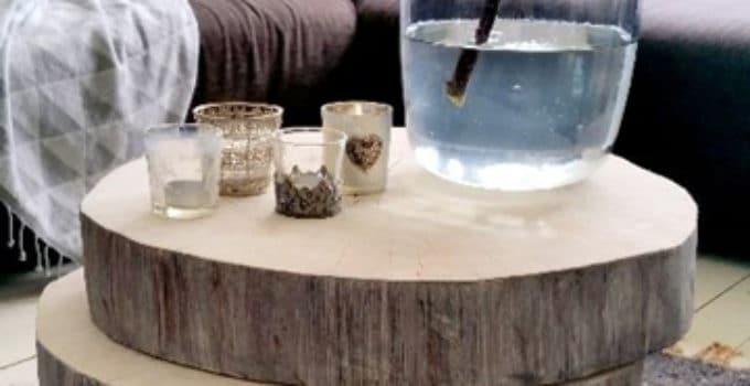 mesas de troncos de arboles | Como decorar mi cuarto
