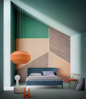 modelos de cuartos pintados modernos