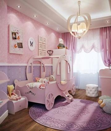 modelos de cuartos pintados para niñas
