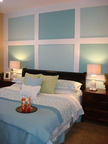 modelos de cuartos pintados tonos turquesa