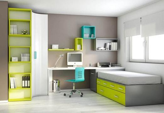 Planifica tu cuarto con estos muebles para recamaras peque as for Recamaras para jovenes minimalistas