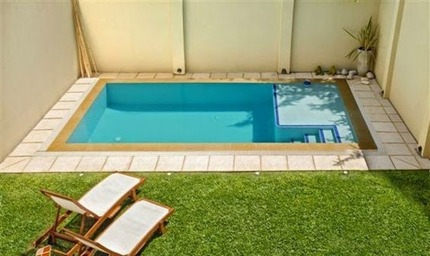 Te damos ideas para instalar piscinas en patios peque os for Decoracion de patios con piscina