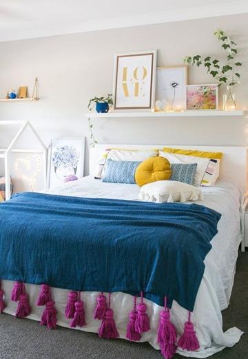 repisas flotantes para dormitorios de adolescentes