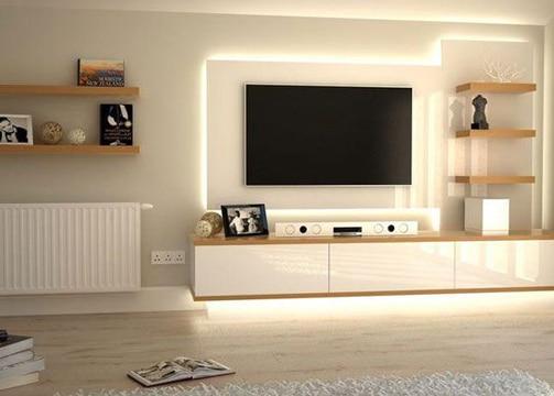 salas minimalistas pequeñas iluminacion
