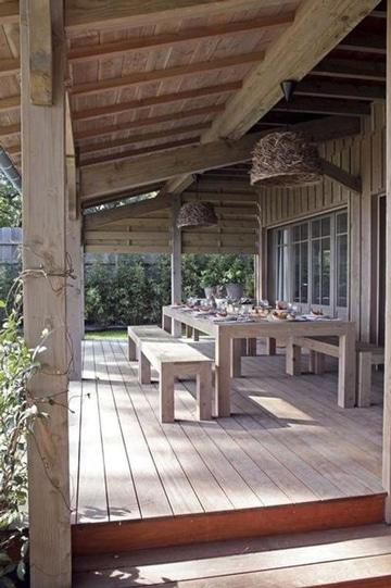 Terrazas de madera rusticas para disfrutar del aire libre for Terrazas rusticas en madera