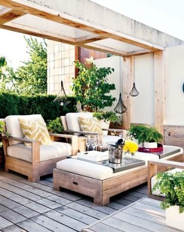 terrazas de madera rusticas reciclada