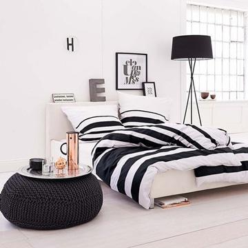 cojines blanco y negro para dormitorios