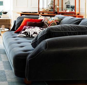 cojines grandes para sofas oscuros