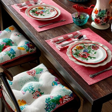 cojines para sillas de comedor florales