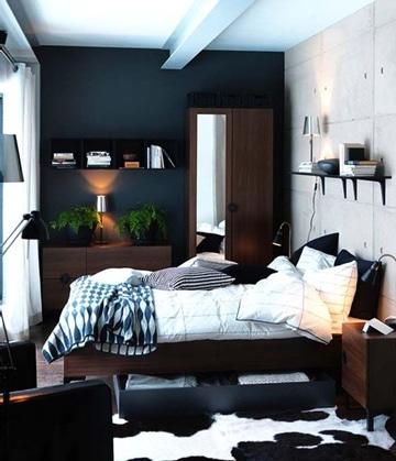 colores para cuartos de hombres elegantes