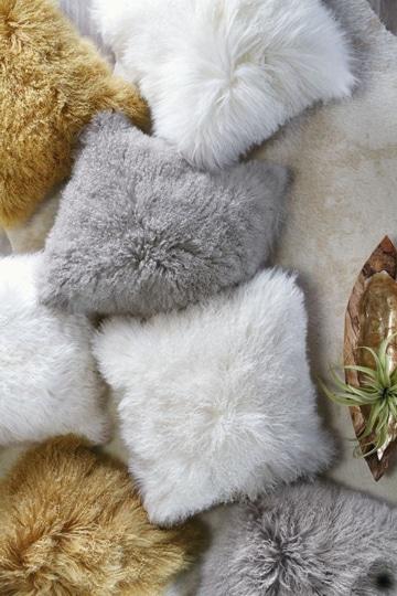 como hacer cojines decorativos peludos