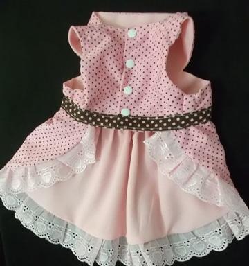 como hacer vestidos para perros rosados