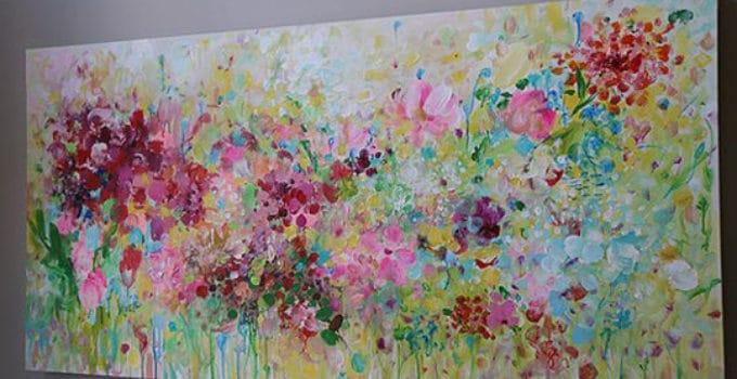 Pinturas de flores modernas with pinturas de flores for Imagenes de cuadros abstractos texturados