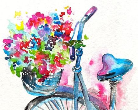 cuadros abstractos de flores vistosos