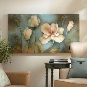 cuadros de flores blancas grandes