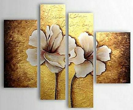 cuadros de flores blancas moderno