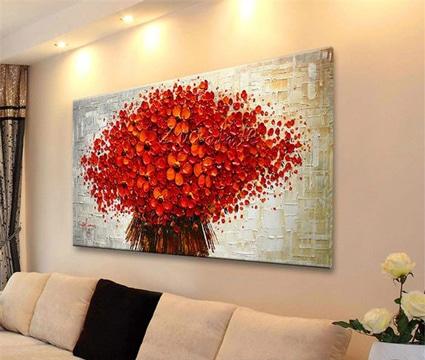 Sorpr ndete con estos bellos cuadros de flores modernos for Cuadros para living grandes