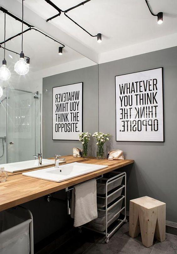 cuadros para baños modernos con mensaje