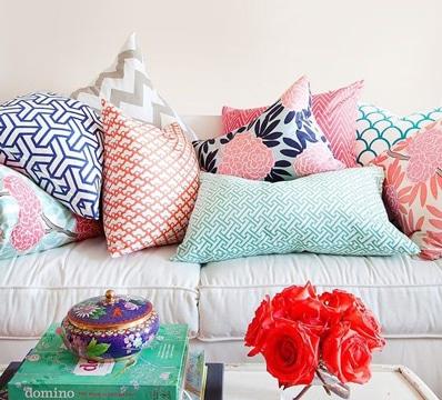 diseños de cojines decorativos coloridos
