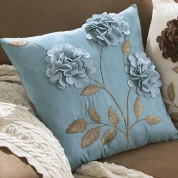 diseños de cojines decorativos con flores